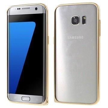 Samsung Galaxy S7 Edge Love Mei Alumiininen Suojakehys Kulta