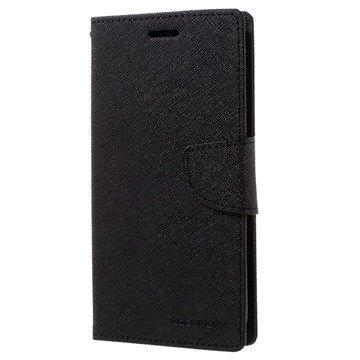 Samsung Galaxy S7 Edge Mercury Goospery Fancy Diary Lompakkokotelo Musta