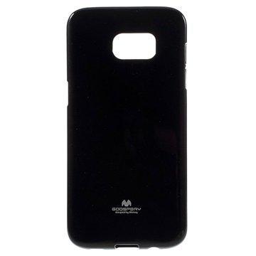 Samsung Galaxy S7 Edge Mercury Goospery TPU Kotelo Musta