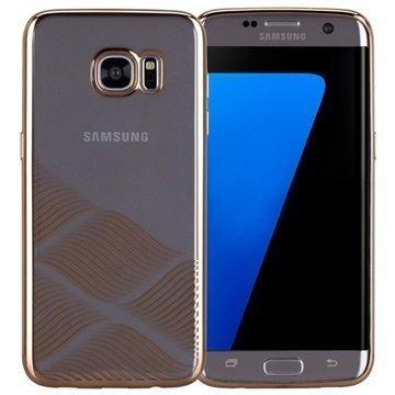 Samsung Galaxy S7 Edge Momax Splendor TPU-Kotelo Kulta