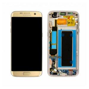 Samsung Galaxy S7 Edge Näyttö & Runko Hopea