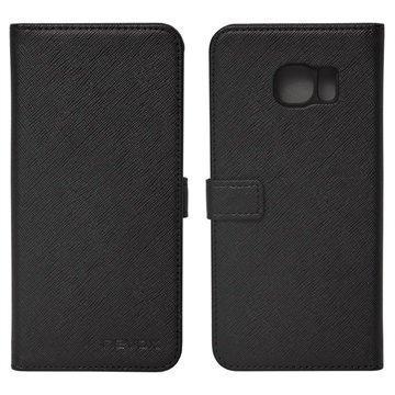 Samsung Galaxy S7 Edge Nevox Ordo Foliokotelo Musta / Harmaa