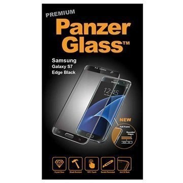 Samsung Galaxy S7 Edge PanzerGlass Premium Full Frame Screen Protector Black