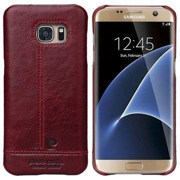 """Samsung Galaxy S7 Edge Pierre Cardin Nahkapintainen Suojakuori â"""" Viininpunainen"""
