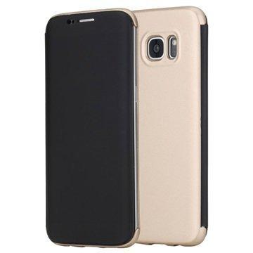 Samsung Galaxy S7 Edge Rock DR. V Series Läppäkotelo Kulta