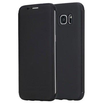 Samsung Galaxy S7 Edge Rock DR. V Series Läppäkotelo Musta