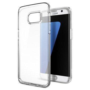 Samsung Galaxy S7 Edge Spigen Liquid Crystal TPU-Kotelo Kirkas