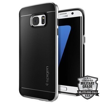 Samsung Galaxy S7 Edge Spigen Neo Hybridi Suojakuori Satiinihopea