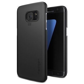 Samsung Galaxy S7 Edge Spigen Thin Fit Kotelo Musta