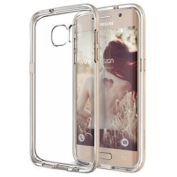 Samsung Galaxy S7 Edge VRS Design Crystal Bumper -Sarjan Kotelo Hohtava Kulta