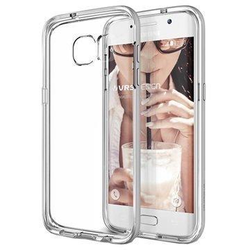 Samsung Galaxy S7 Edge VRS Design Crystal Bumper -Sarjan Kotelo Vaalea Hopea