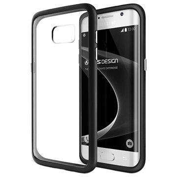 Samsung Galaxy S7 Edge VRS Design Crystal Mixx Series Kotelo Musta