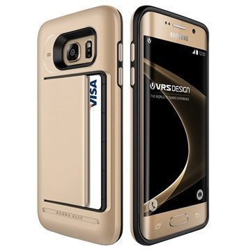 Samsung Galaxy S7 Edge VRS Design Damda Clip Series Kotelo Hohtava Kulta