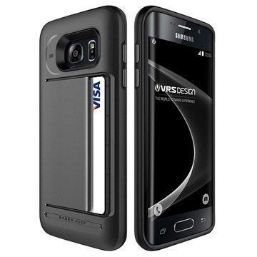 Samsung Galaxy S7 Edge VRS Design Damda Clip Series Kotelo Teräksisen Hopea