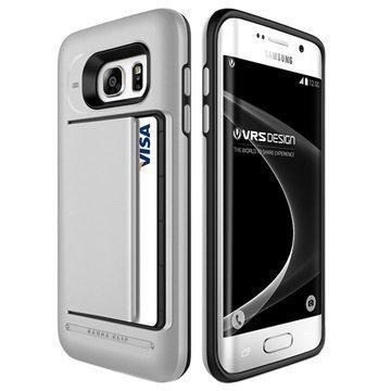 Samsung Galaxy S7 Edge VRS Design Damda Clip Series Kotelo Vaalea Hopea