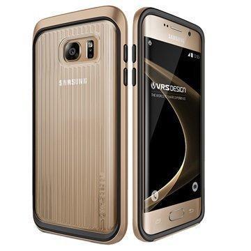Samsung Galaxy S7 Edge VRS Design Triple Mixx -Sarjan Kotelo Hohtava Kulta
