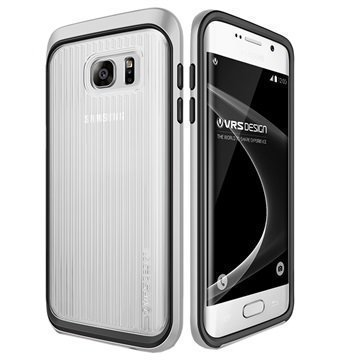 Samsung Galaxy S7 Edge VRS Design Triple Mixx -Sarjan Kotelo Vaalea Hopea