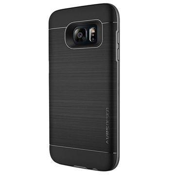Samsung Galaxy S7 Edge Verus High Pro Shield Series Kotelo Teräksisen Hopea