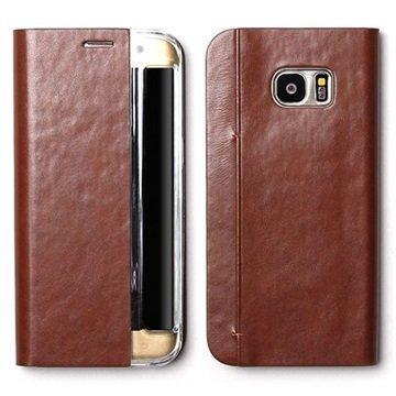 Samsung Galaxy S7 Edge Zenus Basic Diary Kotelo Ruskea