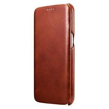 Samsung Galaxy S7 Edge iCarer Luxury Series Nahkakotelo Ruskea