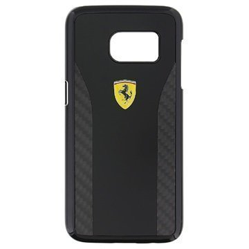 Samsung Galaxy S7 Ferrari Daytona Carbon Kotelo Musta