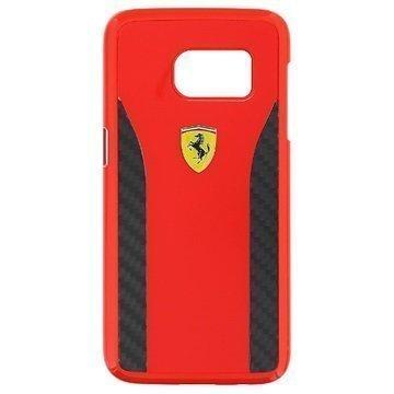 Samsung Galaxy S7 Ferrari Daytona Carbon Kotelo Punainen