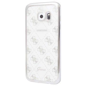 Samsung Galaxy S7 Guess 4G TPU Suojakuori Läpinäkyvä / Hopea