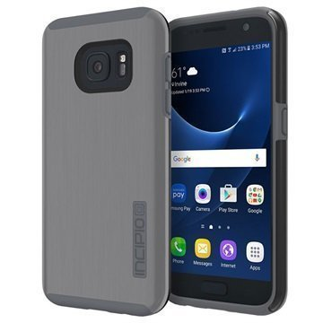 Samsung Galaxy S7 Incipio DualPro Shine Kotelo Asemetallin Harmaa