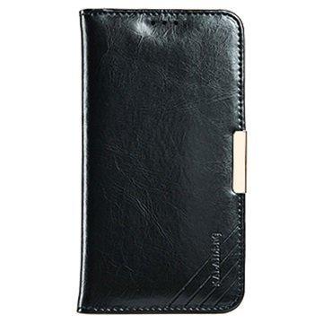Samsung Galaxy S7 Kalaideng Royale II Nahkainen Lompakkokotelo Musta