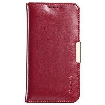 Samsung Galaxy S7 Kalaideng Royale II Nahkainen Lompakkokotelo Punainen