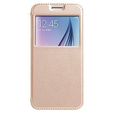 Samsung Galaxy S7 Kalaideng Sun Series Ikkunallinen Läppäkotelo Kulta