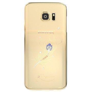 Samsung Galaxy S7 Kingxbar Star Series Kova Suojakuori Riikinkukon Sulka