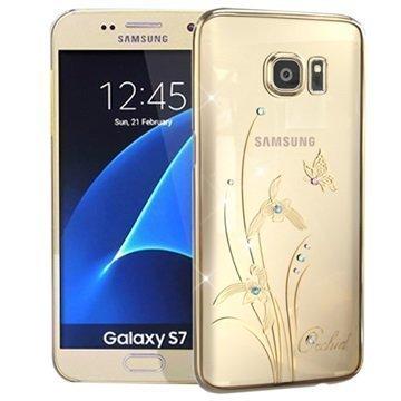 Samsung Galaxy S7 Kingxbar Swarovski Crystal Suojakotelo Orkidea