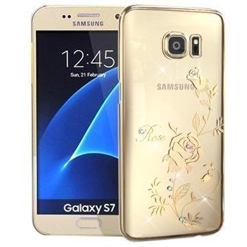 Samsung Galaxy S7 Kingxbar Swarovski Crystal Suojakotelo Rose