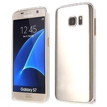 Samsung Galaxy S7 Love Mei Alumiininen Suojakehys Hopea