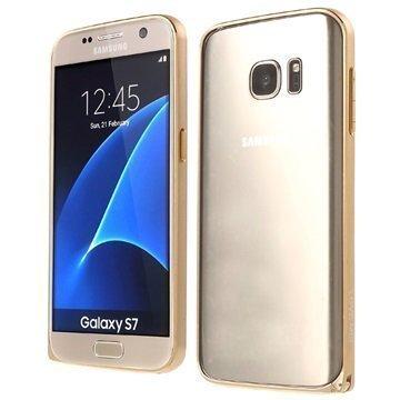 Samsung Galaxy S7 Love Mei Alumiininen Suojakehys Kulta