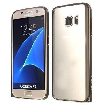 Samsung Galaxy S7 Love Mei Alumiininen Suojakehys Musta