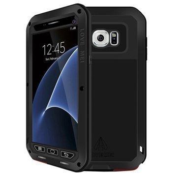 Samsung Galaxy S7 Love Mei Powerful Hybrid Suojakuori Musta
