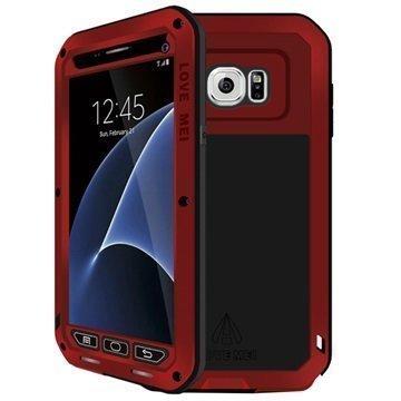 Samsung Galaxy S7 Love Mei Powerful Hybrid Suojakuori Punainen