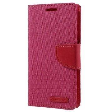Samsung Galaxy S7 Mercury Goospery Canvas Diary Lompakkokotelo Kuuma Pinkki