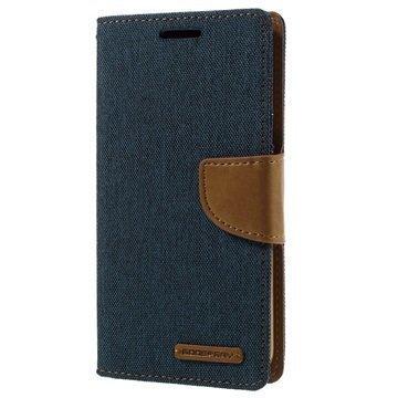 Samsung Galaxy S7 Mercury Goospery Canvas Diary Lompakkokotelo Sininen