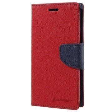 Samsung Galaxy S7 Mercury Goospery Fancy Diary Lompakkokotelo Punainen / Tummansininen