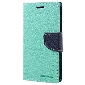 Samsung Galaxy S7 Mercury Goospery Fancy Diary Lompakkokotelo Syaani / Tummansininen