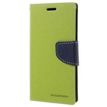 Samsung Galaxy S7 Mercury Goospery Fancy Diary Lompakkokotelo Vihreä / Tummansininen
