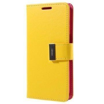 Samsung Galaxy S7 Mercury Goospery Rich Diary Lompakkokotelo Keltainen