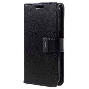Samsung Galaxy S7 Mercury Goospery Rich Diary Lompakkokotelo Musta