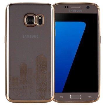 Samsung Galaxy S7 Momax Splendor TPU-Kotelo Kultainen