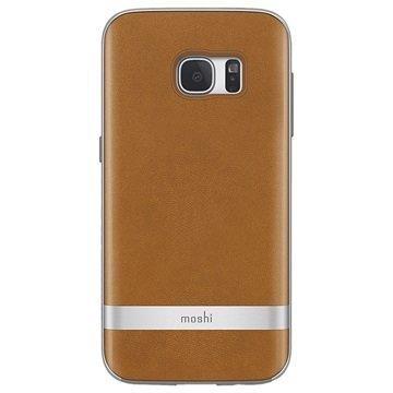 Samsung Galaxy S7 Moshi iGlaze Napa Kotelo Caramel Beige
