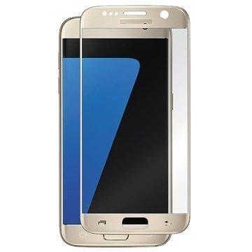 Samsung Galaxy S7 Panzer Full-Fit Näytönsuoja Karkaistu Lasi Kulta