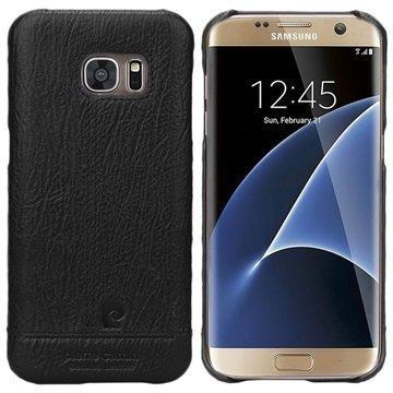 Samsung Galaxy S7 Pierre Cardin Nahkapintainen Suojakuori Musta